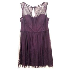 Plum formal dress